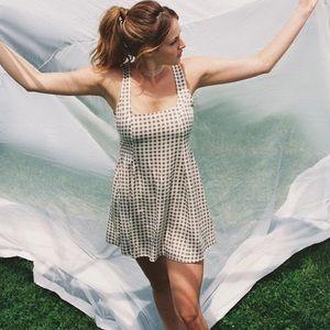 UO Arden Lace Up Back Mini Dress